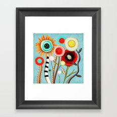 The days blur into one moment Framed Art Print