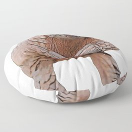 Pangolin Body Mammal You Eat You Die Challenge Floor Pillow