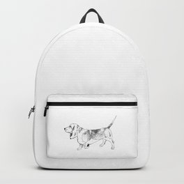 Basset Hound Ink Drawing Backpack
