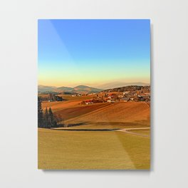 Picturesque panorama of countryside life | landscape photography Metal Print