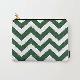 Cal Poly Pomona green - green color - Zigzag Chevron Pattern Carry-All Pouch