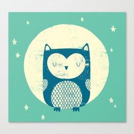 The Moon Owl Canvas Print