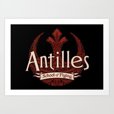 Antilles School of Flying Art Print