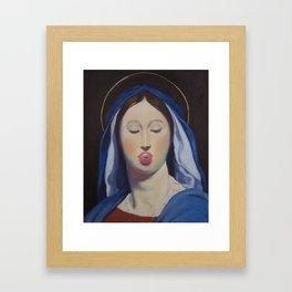 The virgin of the Host Framed Art Print