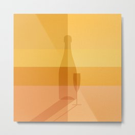 ELIXIRS / Champagne Metal Print