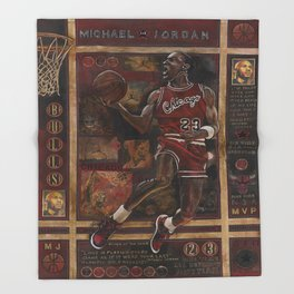 Micheal jordan Throw Blanket