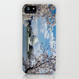 Thomas Jefferson Memorial with Cherry Blossoms  iPhone Case