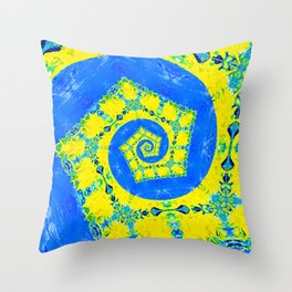 Yellow Brick Sun Throw Pillow