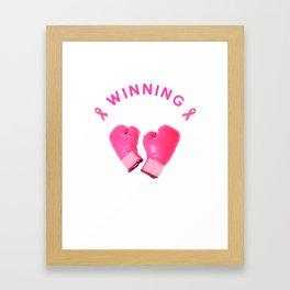 Breast Cancer winning design Framed Art Print
