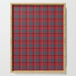 Red Plaid Serving Tray