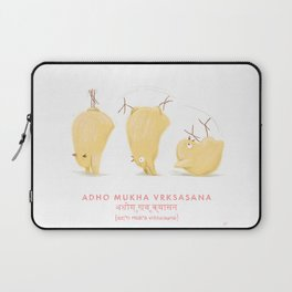 Adho Mukha Vrksasana Chicken Yoga Laptop Sleeve
