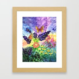 Bluebonnet Bouquet Framed Art Print