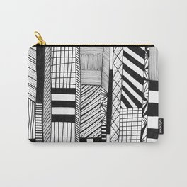Mono Geo Lines Carry-All Pouch