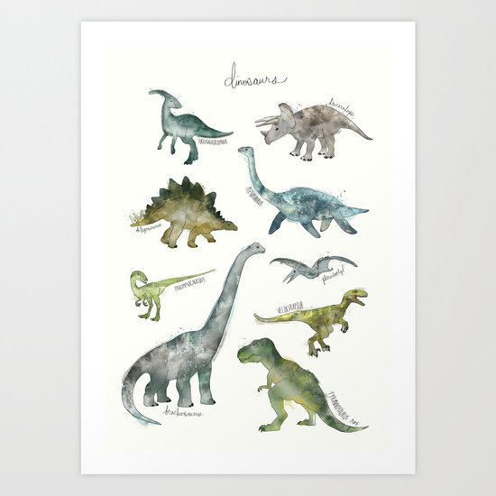Dinosaurs Art Print By Amy Hamilton Society6