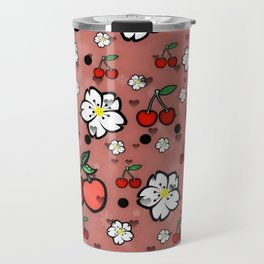 Cherry popart by Nico Bielow Travel Mug