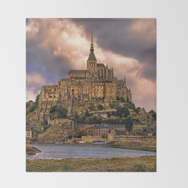 On The Coast Of Normandy Throw Blanket