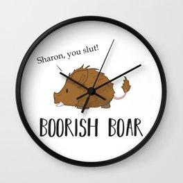 The Boorish Boar Wall Clock