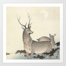 Deer by Ohara Koson Art Print
