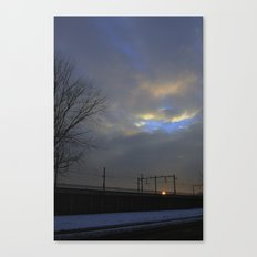 Lonely travel Canvas Print