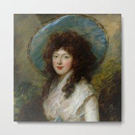 "Thomas Gainsborough ""Miss Catherine Tatton"" Metal Print"
