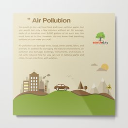 Air Pollution  Metal Print