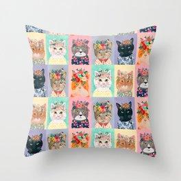 Cat land Throw Pillow