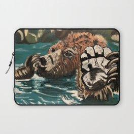 Chill Bear by Noelle's Art Loft Laptop Sleeve