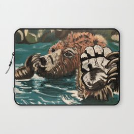 Chill Bear by Noelle's Art Loft Laptop Sleeve