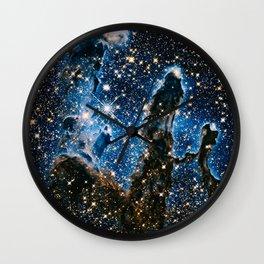 Pillars Of Creation Nebula, Galaxy Background, Universe Large Print, Space Wall Art Decor Wall Clock