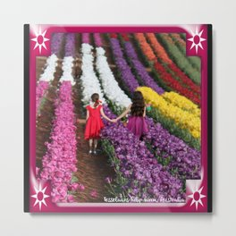Tip Toe Thru The Tulips Metal Print
