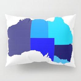 Australia State Silhouette Pillow Sham