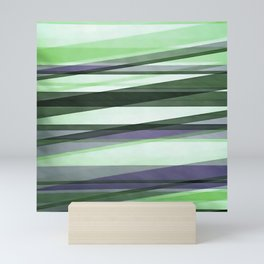 Semi Transparent Layers In Green Lime and Lavender Mini Art Print