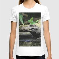 crocodile T-shirts featuring Crocodile by Falko Follert Art-FF77
