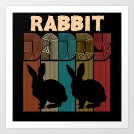Bunny Dad Art Print