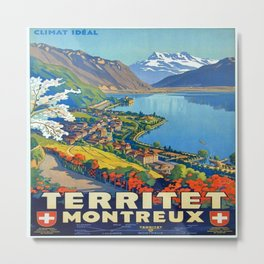 Vintage poster - Territet Montreaux Metal Print