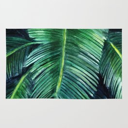 Watercolor tropical print Rug