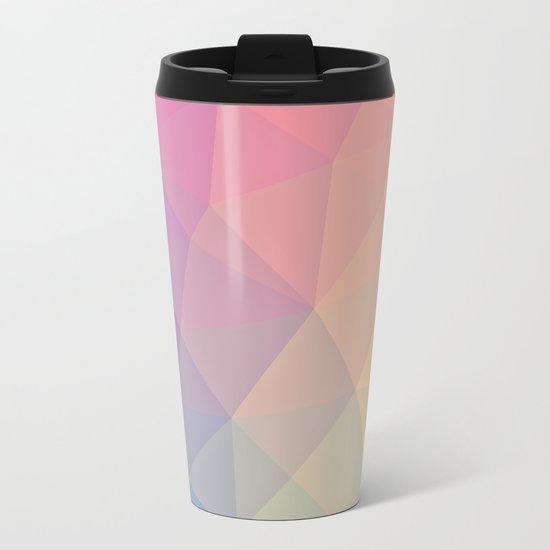 Abstract Polygons Metal Travel Mug