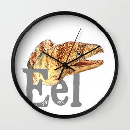 E is for Eel Wall Clock
