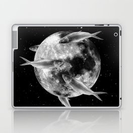 fish thank with floathing moon Laptop & iPad Skin