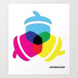 Primaries Nuts color Art Print