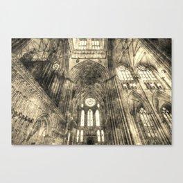 York Minster Vintage Canvas Print