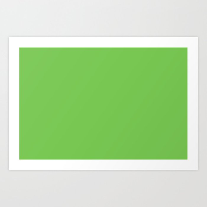 GREEN FLASH PANTONE 15-0146 Art Print