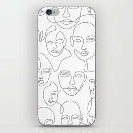 Subtle Faces iPhone Skin