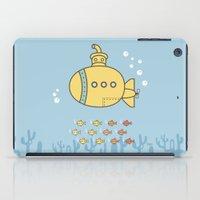 yellow submarine iPad Cases featuring Yellow Submarine by Brenda Figueroa Illustration