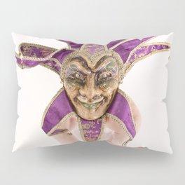 1387s-MM Jester Mask on a Implied Nude Fine Art Model Pillow Sham
