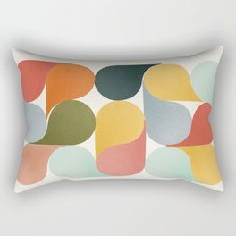 Shapes of color - abstract Rectangular Pillow