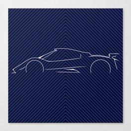 PAGANI ZONDA - Carbo Fiber vaiant Canvas Print