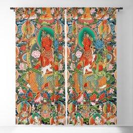 21 Taras Thangka Samantabhadra Varayogini Blackout Curtain