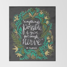 Anything's Possible on Charcoal Throw Blanket
