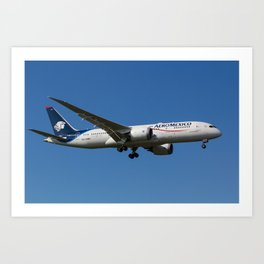 Aero Mexico Boeing 787 Art Print